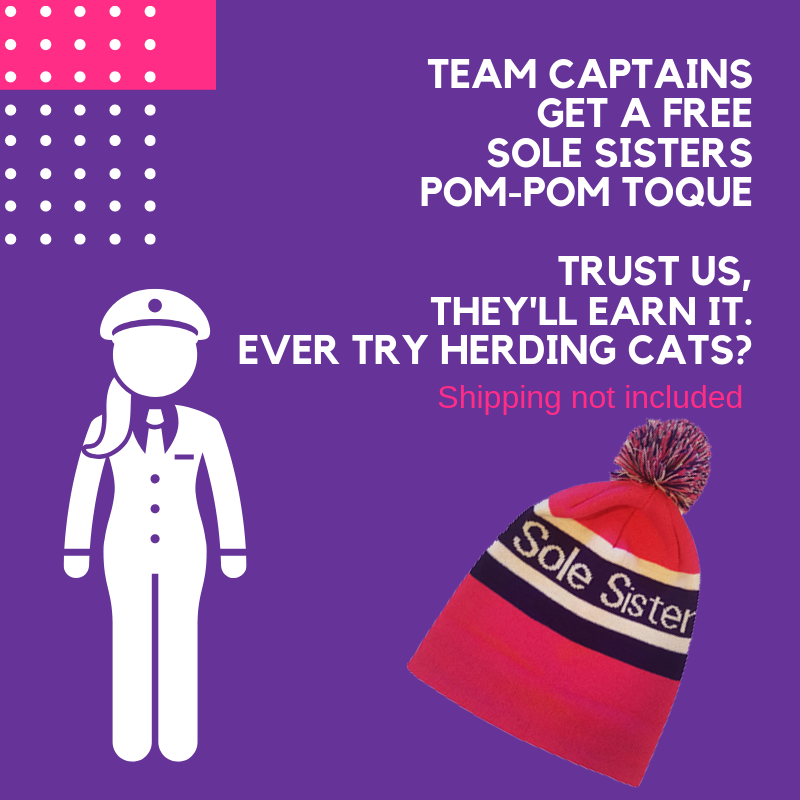 Team Captains get FREE pom-pom toque
