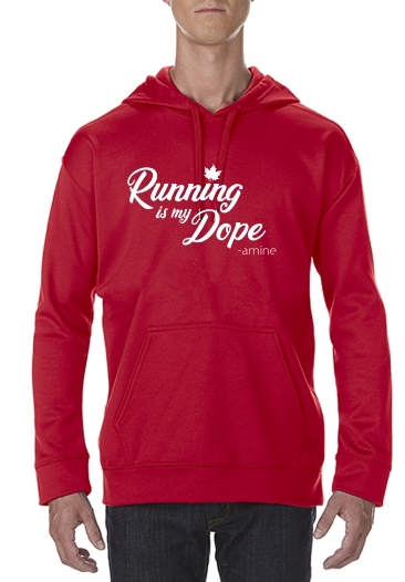 Running is my DOPE-amine (Technical Hoodie)