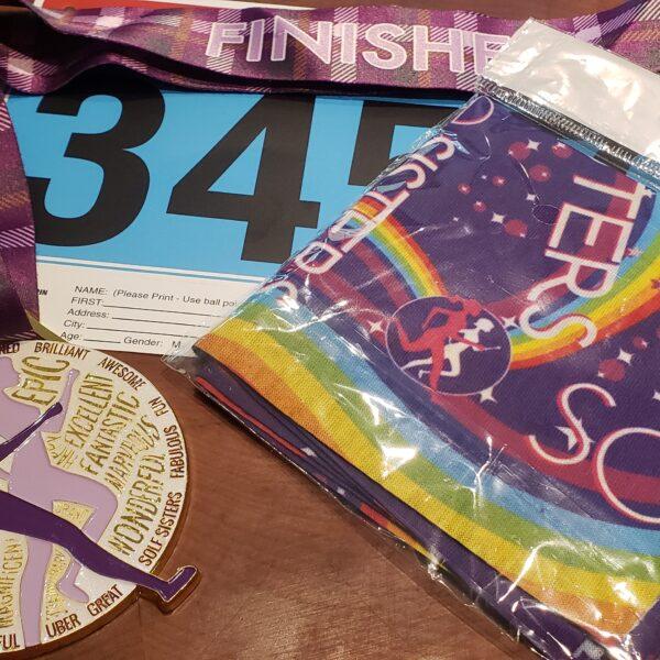 Virtual 5K includes tartan medal & unicorn race wrap
